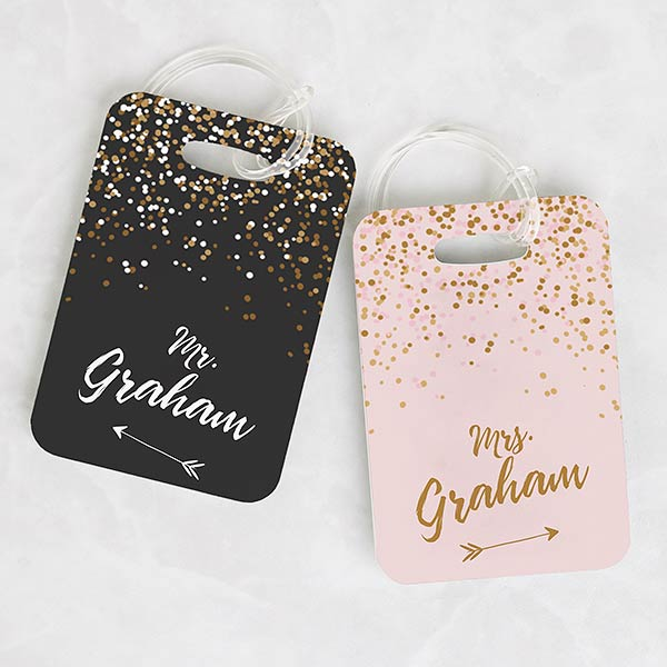 Personalized Luggage Tags - Sparkling Love - 19656
