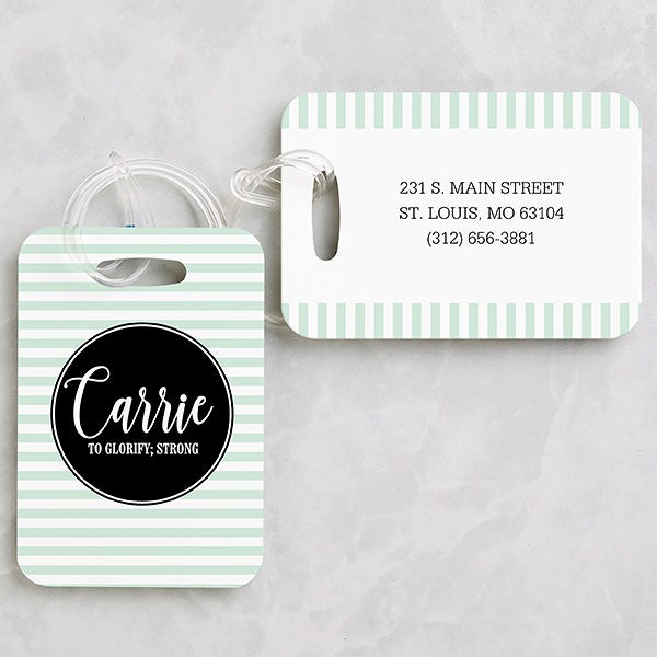 Personalized Luggage Tags - Name & Meaning - 19657