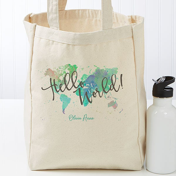 Personalized Canvas Tote Bag - The Journey - 19658