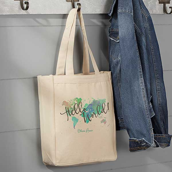 Personalized Canvas Tote Adventure Awaits