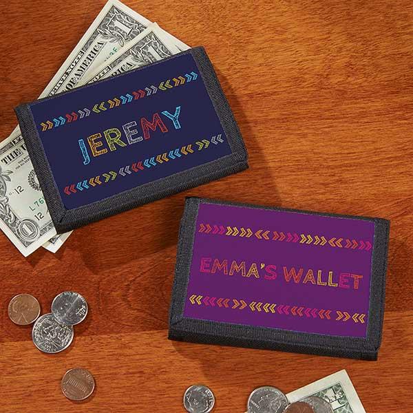 Personalized Kids Wallets - Stencil Name - 19679