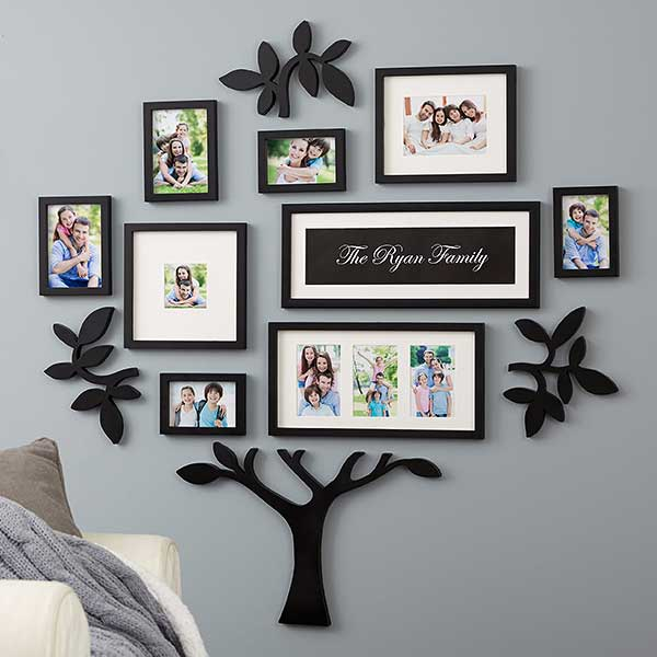 Wallverbs Family Tree Personalized Picture Frame Set