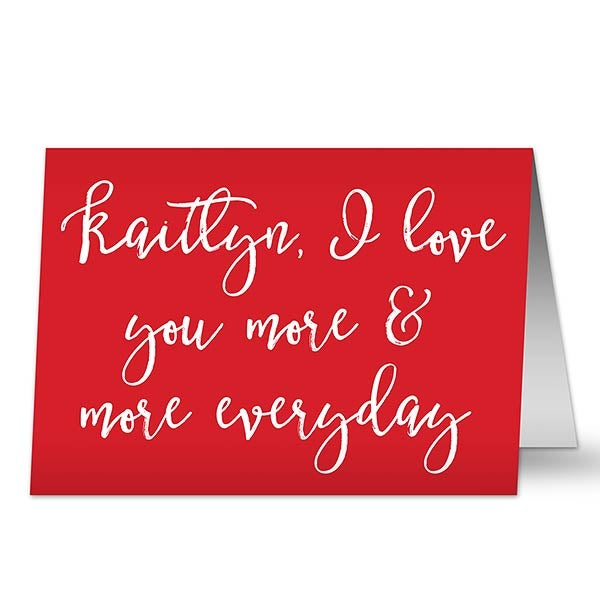 Personalized Romantic Greeting Cards - Write Your Own Expression - 19753