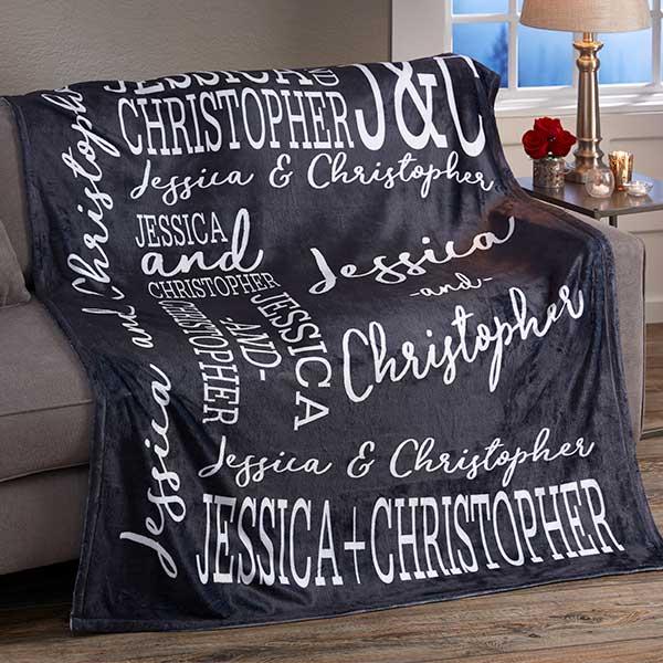 Personalized Fleece Blankets Couple In Love 50x60