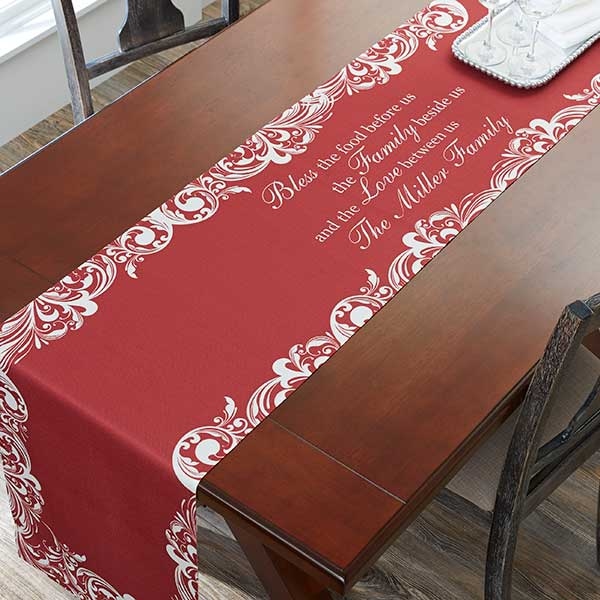 Christmas Blessings Personalized Table Runner - 19786