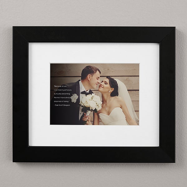 Personalized Framed Wedding Photo Prints with Text Overlay - 19787