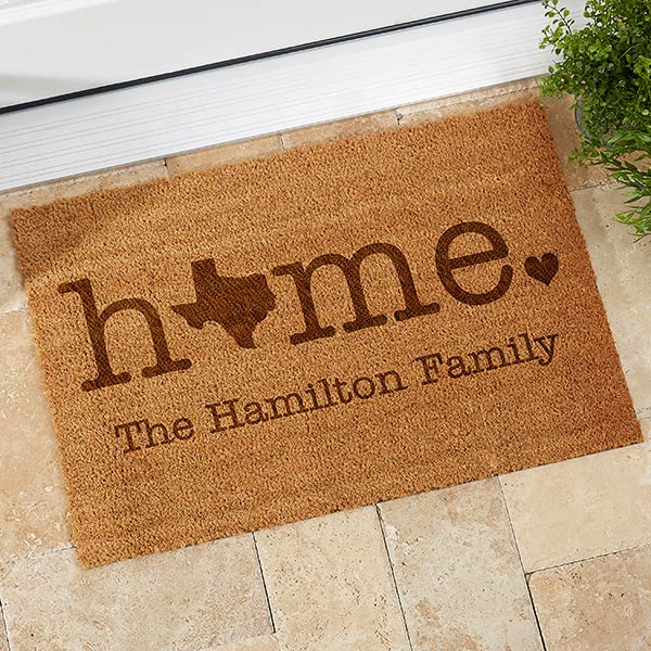 Personalized Coir Doormats - Home State - 19817