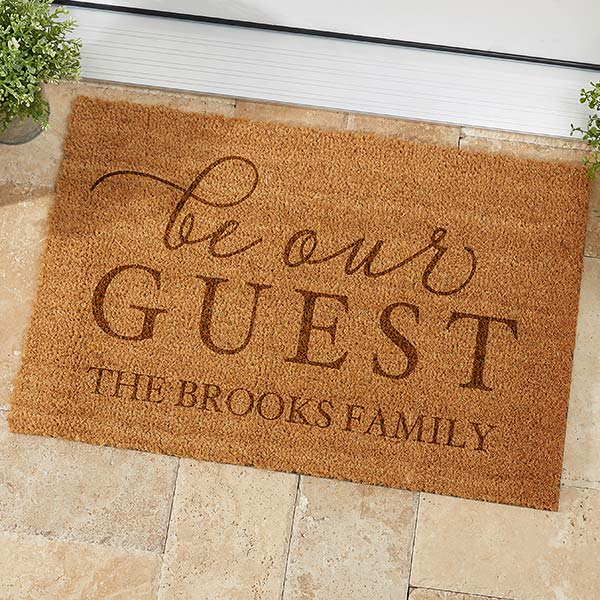 Personalized Coir Doormats - Be Our Guest - 19821