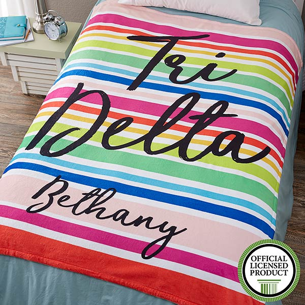 Personalized Sorority Blankets - Delta Delta Delta - 19842