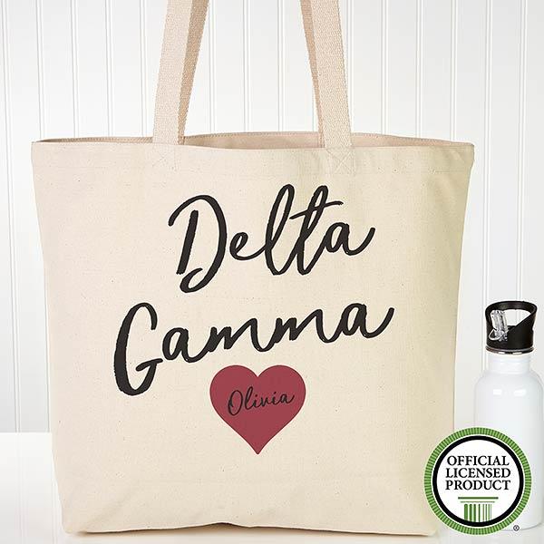 Personalized Delta Gamma Sorority Tote Bag - 19845