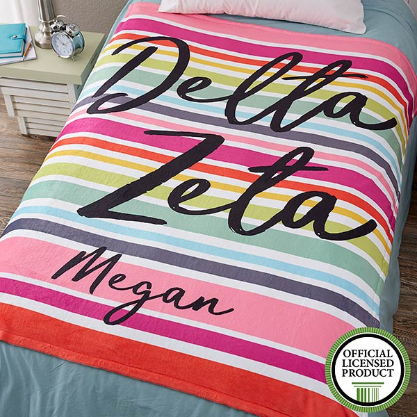 Personalized Sorority Blankets - Delta Zeta - Fleece - 19850