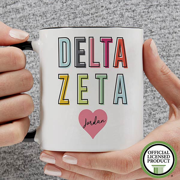 Personalized Sorority Mugs - Delta Zeta - 19851