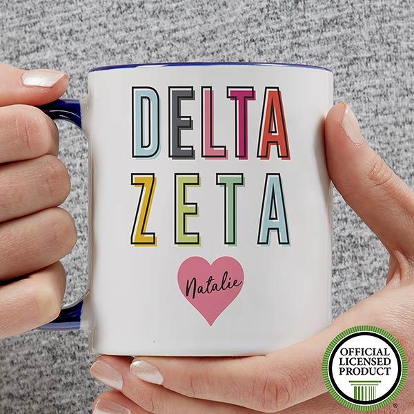 Personalized Sorority Mugs - Delta Zeta - 19851