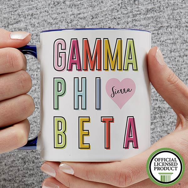 Personalized Sorority Mugs - Gamma Phi Beta - 19855