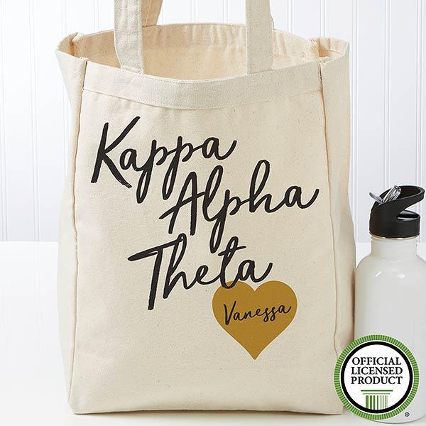 Personalized Kappa Alpha Theta Sorority Tote Bag - 19857