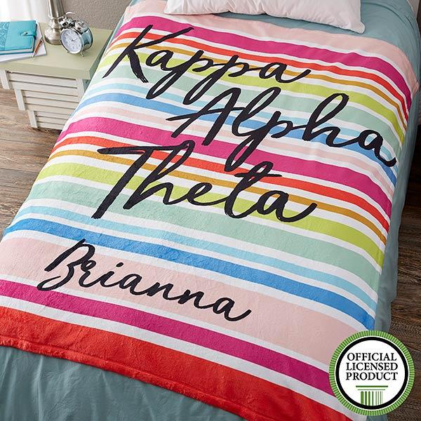 Personalized Sorority Blankets - Kappa Alpha Theta - 19858