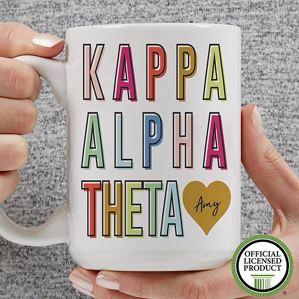 Personalized Sorority Mugs - Kappa Alpha Theta - 19859