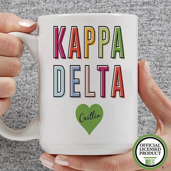 Personalized Sorority Mugs - Kappa Delta - 19863