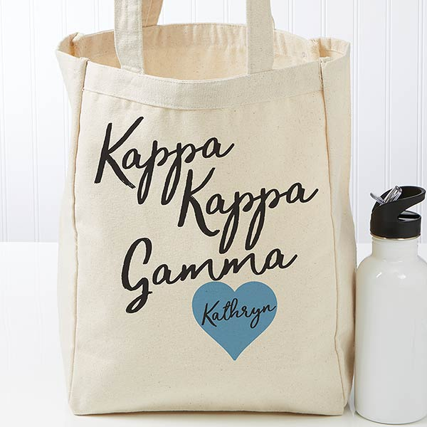 e686bc498 Personalized Kappa Kappa Gamma Sorority Tote Bag - 19865