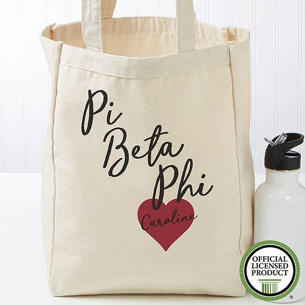 Personalized Pi Beta Phi Tote Bag - Small - 19868