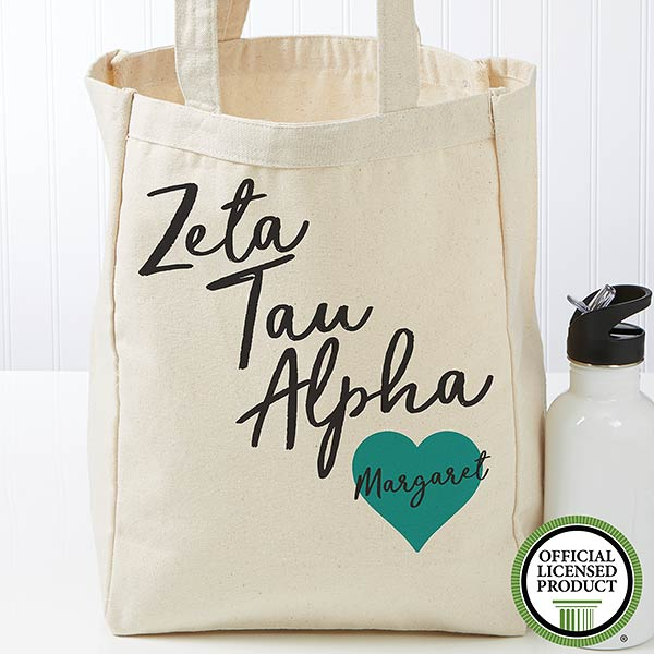 Personalized Zeta Tau Alpha Tote Bag - Small - 19872