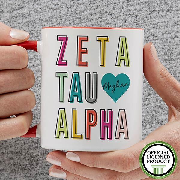 Personalized Sorority Mugs - Zeta Tau Alpha - 19875