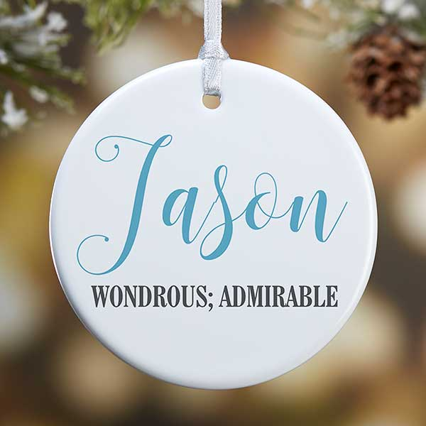Personalized Ornaments - Name Meaning - 19877