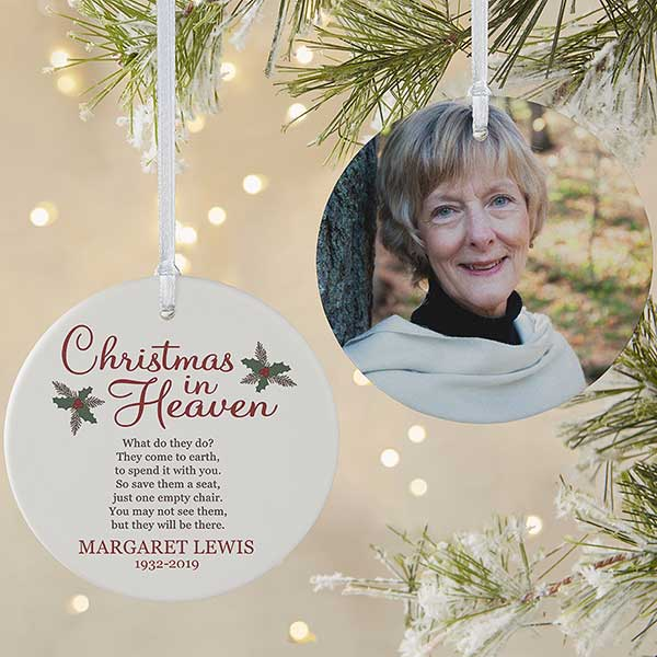 Christmas In Heaven Ornament.Christmas In Heaven Large 2 Sided Memorial Ornament