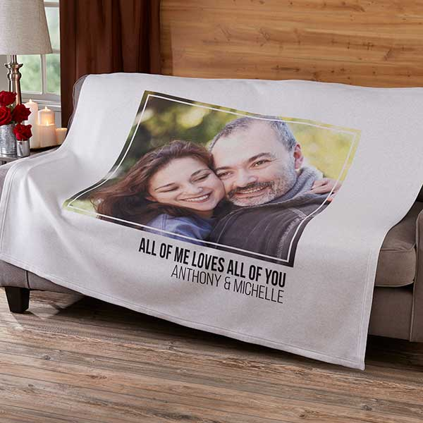 Personalized Sweatshirt Blanket - Romantic Photo Collage - 19892