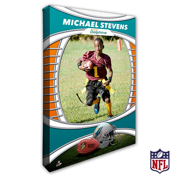 Personalized NFL Canvas Prints - Miami Dolphins - 19914