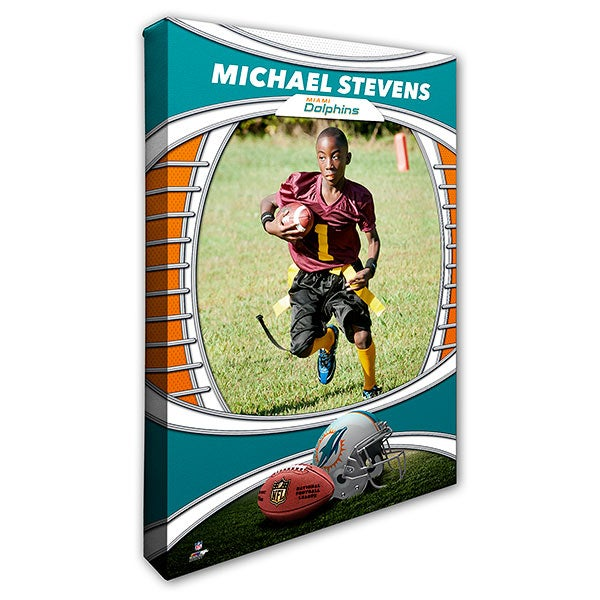 best service 8cf73 37c99 Miami Dolphins Personalized 12x18 Photo Canvas Print
