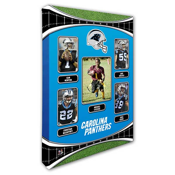 huge selection of 19fbf c0774 Carolina Panthers Trading Card Photo Canvas - 12x18
