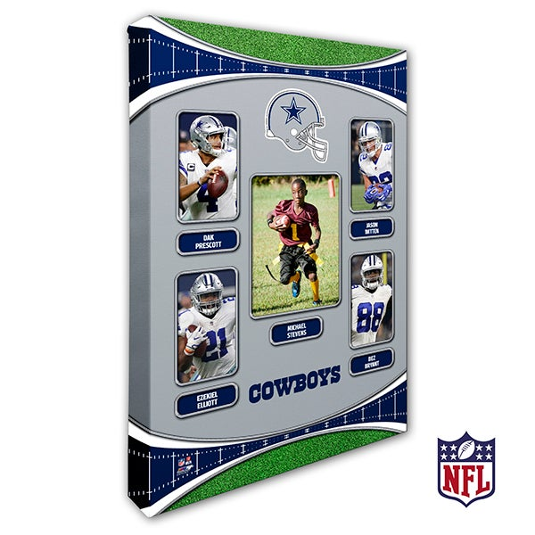 Dallas Cowboys Personalized NFL Trading Card Style Canvas Print - 12