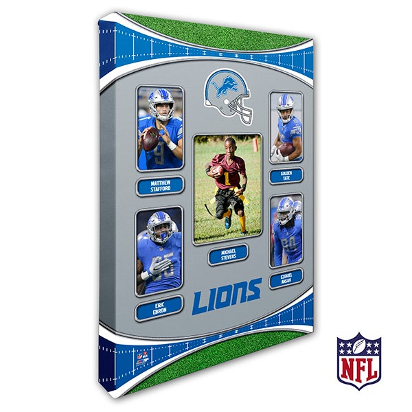 Personalized NFL Wall Art - Detroit Lions Art - 19937