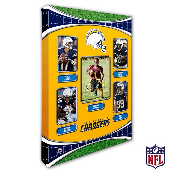 Personalized NFL Wall Art - Los Angeles Chargers Art - 19943