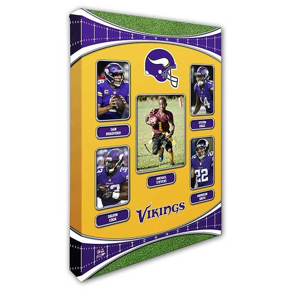 reputable site 55eaa 69f5c Minnesota Vikings Trading Card Photo Canvas - 12x18