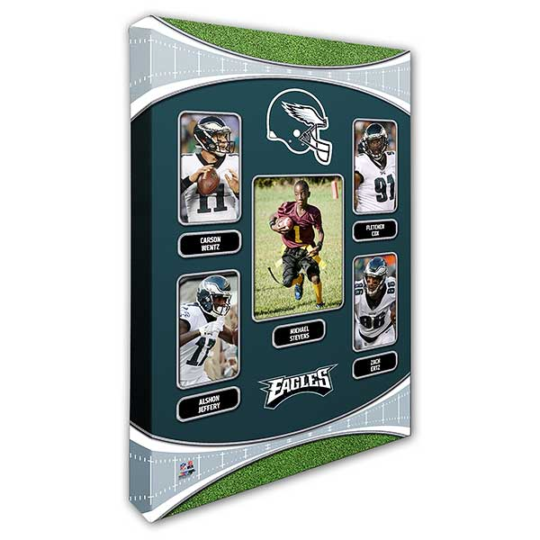 finest selection cac6d 7a299 Philadelphia Eagles Trading Card Photo Canvas - 16x24