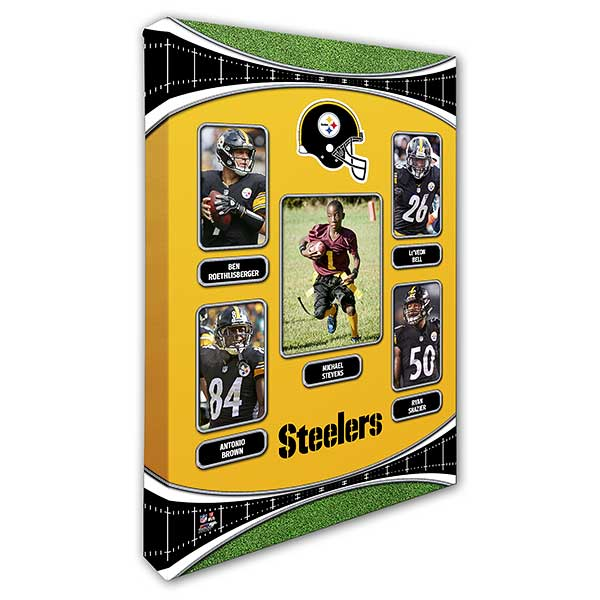 Pittsburgh Steelers Trading Card Photo Canvas 12x18
