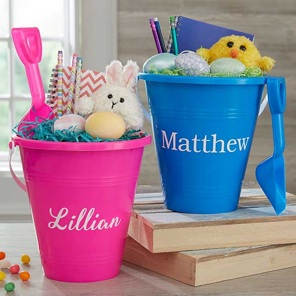 Personalized Sand Toys - Easter Bucket & Shovel - 19974