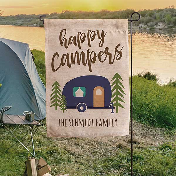 Personalized Camping Flag - Happy Campers - 19999