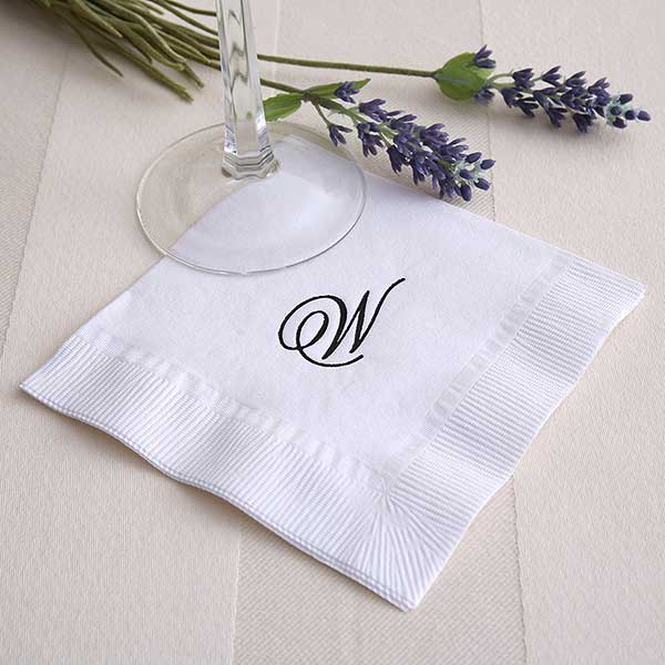 Personalized Cocktail Napkins - Initially Yours - 2000D