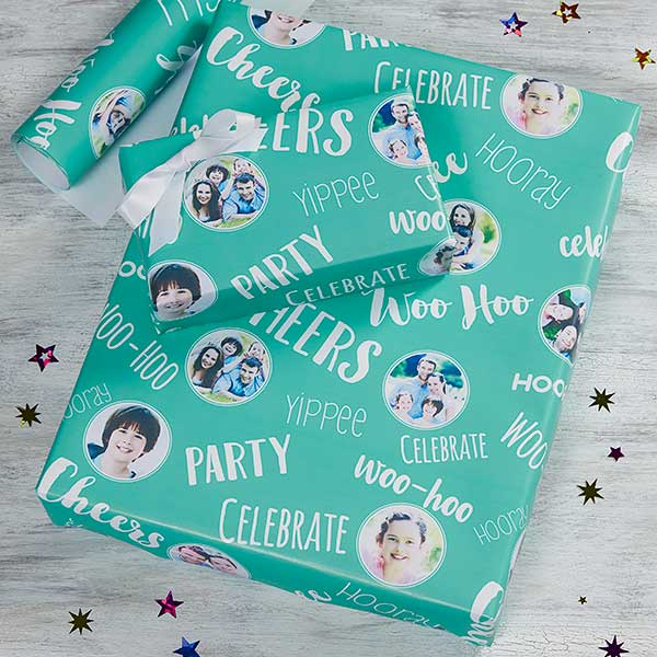 Personalized Wrapping Paper - Family Photo Collage - 20017