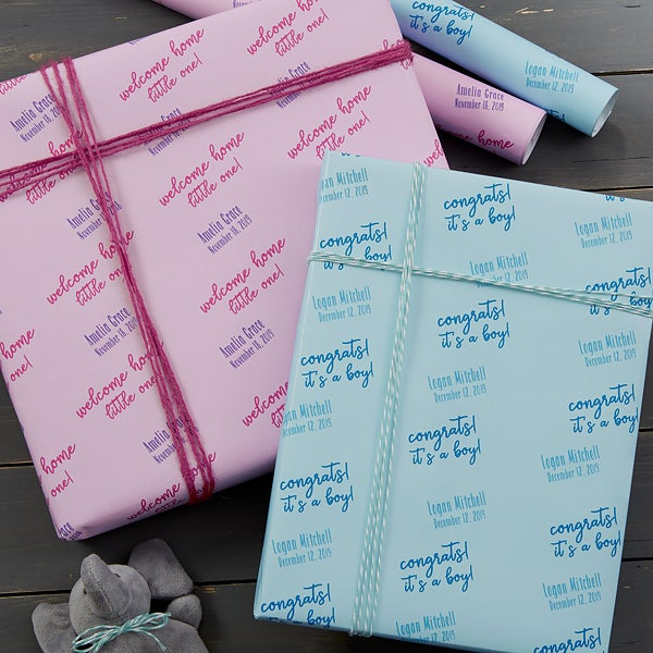 Personalized Baby Wrapping Paper - Step & Repeat - 20034