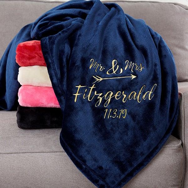 Custom Embroidered Fleece Blankets - Sparkling Love - 20057