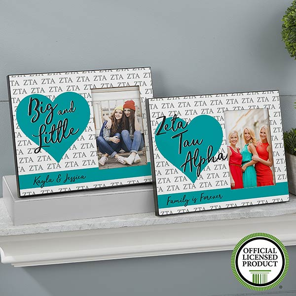 Personalized Sorority Picture Frames - Zeta Tau Alpha - 20069