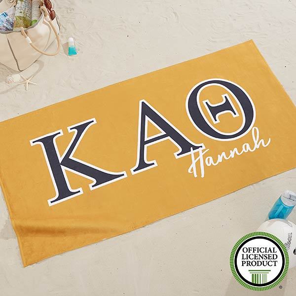 Kappa Alpha Theta Personalized Beach Towel - 20078