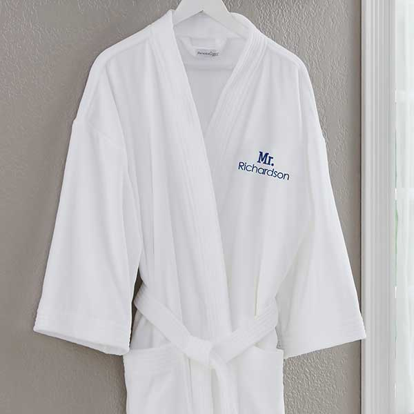 Mr White Velour Personalized Robe