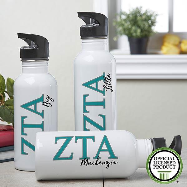 Personalized Zeta Tau Alpha Water Bottle  - 20099