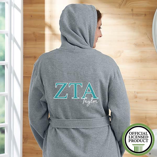 Zeta Tau Alpha Personalized Sweatshirt Robe - 20114