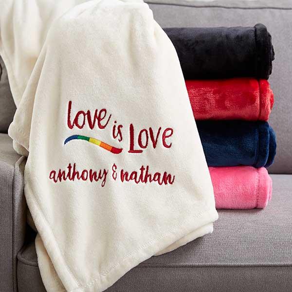 Love Is Love Personalized Fleece Blankets - 20122